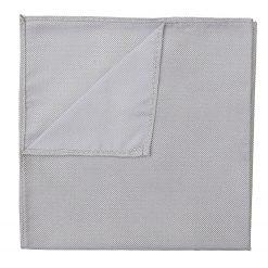 Silver Panama Silk Pocket Square