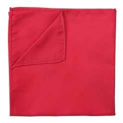 Strawberry Red Panama Silk Pocket Square