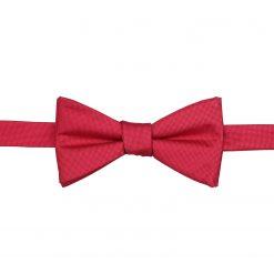 Strawberry Red Panama Silk Self Tie Thistle Bow Tie