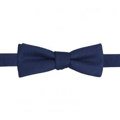 Navy Blue Panama Wool Self Tie Batwing Bow Tie