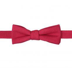 Scarlet Red Panama Wool Self Tie Batwing Bow Tie