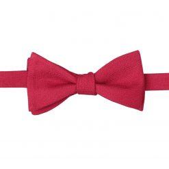 Scarlet Red Panama Wool Self Tie Thistle Bow Tie