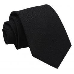 Black Panama Wool Classic Tie