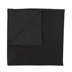 Black Panama Wool Pocket Square