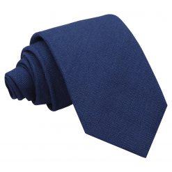 Navy Blue Panama Wool Classic Tie