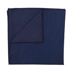 Navy Blue Panama Wool Pocket Square