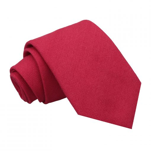 Scarlet Red Panama Wool Classic Tie