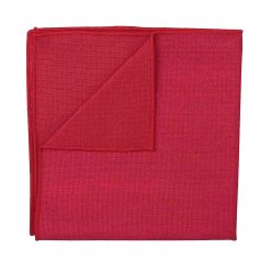 Scarlet Red Panama Wool Pocket Square