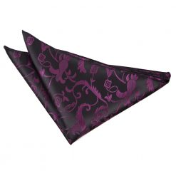 Black & Purple Passion Pocket Square