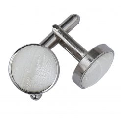 Ivory Passion Silver Plated Cufflinks