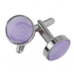 Lilac Passion Silver Plated Cufflinks