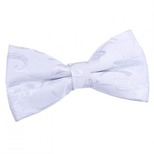 White Passion Pre-Tied Thistle Bow Tie