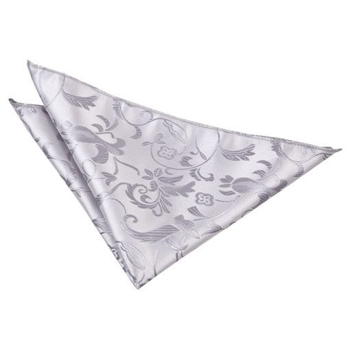 Silver Passion Pocket Square