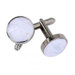 White Passion Silver Plated Cufflinks
