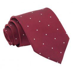 Burgundy Pin Dot Classic Tie
