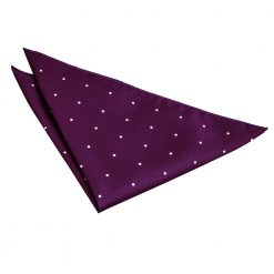 Purple Pin Dot Pocket Square