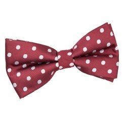 Burgundy Polka Dot Pre-Tied Thistle Bow Tie