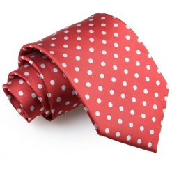 Dark Red Polka Dot Classic Tie