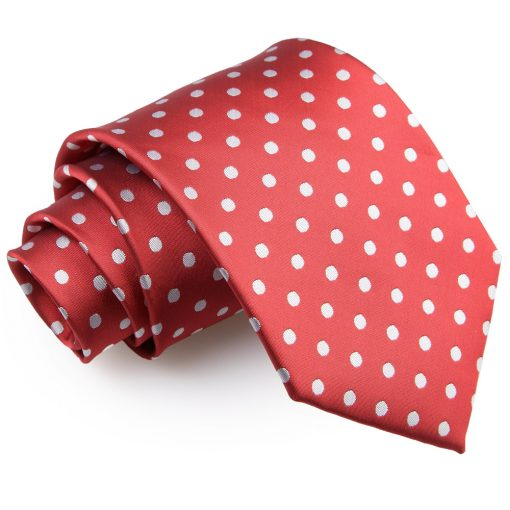 Dark Red Polka Dot Classic Tie