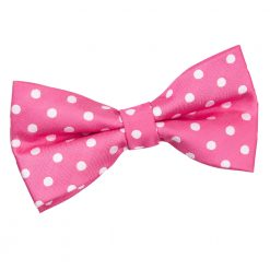 Hot Pink Polka Dot Pre-Tied Thistle Bow Tie