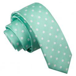 Mint Green Polka Dot Skinny Tie