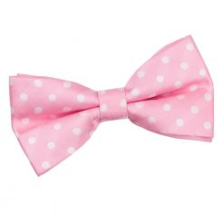 Pink Polka Dot Pre-Tied Thistle Bow Tie