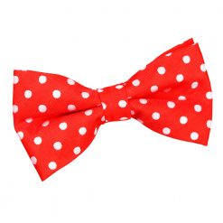 Red Polka Dot Pre-Tied Thistle Bow Tie