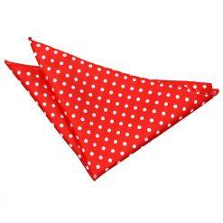 Red Polka Dot Pocket Square