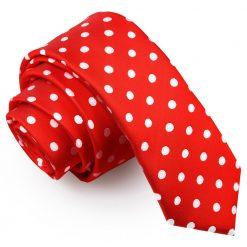 Red Polka Dot Skinny Tie