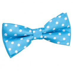Robin's Egg Blue Polka Dot Pre-Tied Thistle Bow Tie