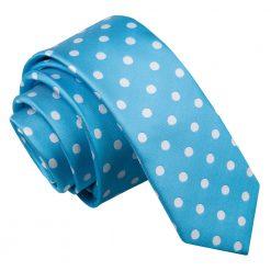Robin's Egg Blue Polka Dot Skinny Tie