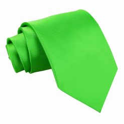Apple Green Satin Extra Long Tie