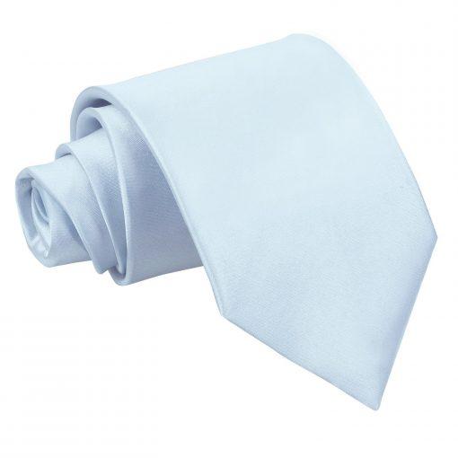 Baby Blue Satin Classic Tie