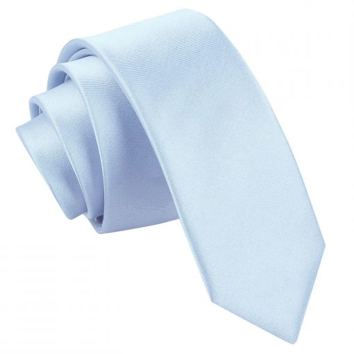Baby Blue Satin Skinny Tie