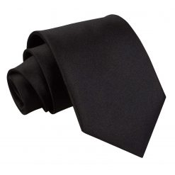 Black Satin Extra Long Tie