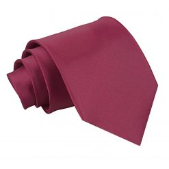 Burgundy Satin Extra Long Tie