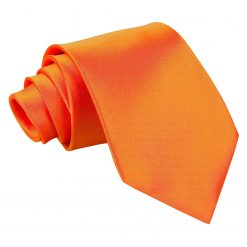 Burnt Orange Satin Extra Long Tie