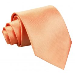 Coral Satin Extra Long Tie