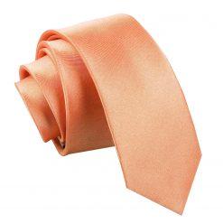 Coral Satin Skinny Tie