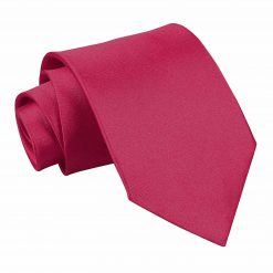 Crimson Red Satin Extra Long Tie