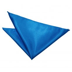 Electric Blue Satin Pocket Square
