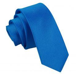 Electric Blue Satin Skinny Tie