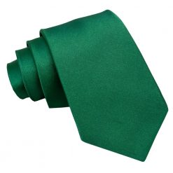 Emerald Green Satin Classic Tie