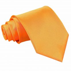 Fluorescent Orange Satin Extra Long Tie