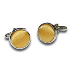 Gold Satin Inlay Silver Plated Cufflinks