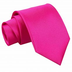 Hot Pink Satin Extra Long Tie