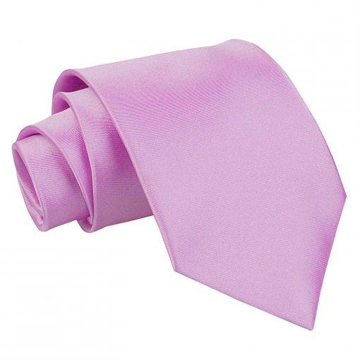 Lilac Satin Extra Long Tie