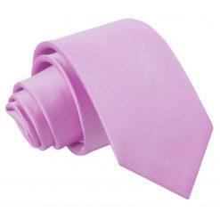 Lilac Satin Slim Tie