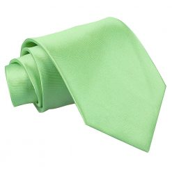 Lime Green Satin Extra Long Tie