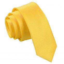 Marigold Satin Skinny Tie
